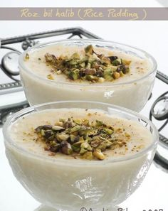 Recipe by:zainab 4 cups milk. cup short grain rice(known here as Egyptian rice) washed. Middle East Food, Middle Eastern Desserts, Middle Eastern Dishes, Lebanese Desserts, Lebanese Recipes, Indian Food Recipes, Arabic Recipes, Arabic Dessert, Arabic Food