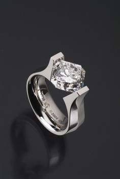 Gothic Elara Ring in Platinum by Steven Kretchmer Design