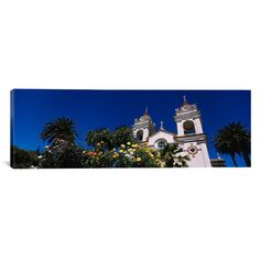 "East Urban Home Panoramic Portuguese Cathedral, San Jose, California Photographic Print on Canvas Size: 20"" H x 60"" W x 0.75"" D"