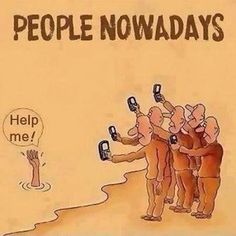 I like this because it shows that society nowadays stand back and record when someone needs help rather than actually helping.