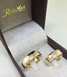 Par de Alianças Vila Olímpia ♥ Casamento e Noivado em Ouro 18K - Reisman