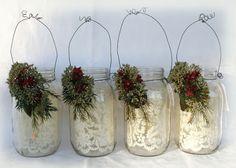 Christmas Lighted Jars, Christmas Crafts
