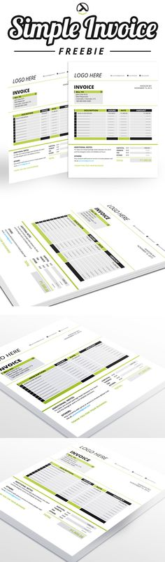 invoice Template and Stationary design - how to invoice for freelance work