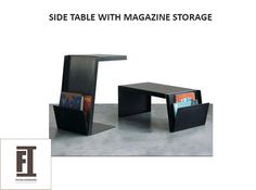 Check out our sleek solid wood #SideTable with #MagazineStorage and get all the things organized and easy. Conveniently find all your magazines, newspapers, remote control right at hand. Get your customized order today. Click here to find more www.foyerinteriors.com  #homedecore