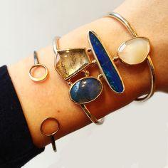 Tuesday blues #oneofakind opal, dendritic quartz, leland blue slag