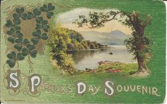 Patrick's Day Clipart ~ Karen's Whimsy - Patrick's Day St Patricks Day Clipart, Happy St Patricks Day, Saint Patricks, Vintage Cards, Vintage Postcards, Vintage Images, Irish Images, Church Of Ireland, St Patrick's Day Crafts