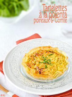 Tartelettes croustillantes à la polenta, poireaux & Comté - Alter Gusto