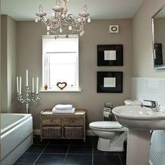 Chic weiße Badezimmer Wohnideen Badezimmer Living Ideas Bathroom