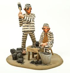 """Jail Birds"" carved by Andy Anderson"