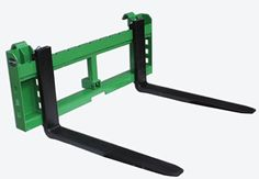 Titan 42″ Pallet Fork Attachment with 2″ Trailer Receiver Hitch for John Deere Loader