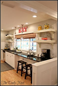 Lightened Up Home Reveal! Creating an open concept kitchen/The Daily Nest