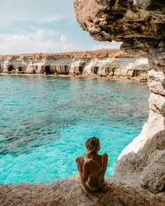 holiday goals Sea caves in Ayia Napa Cyprus via finduslost Ayia Napa, Travel Goals, Travel Advice, Travel Tips, Travel Ideas, Places To Travel, Travel Destinations, Cyprus Holiday, Unique Vacations