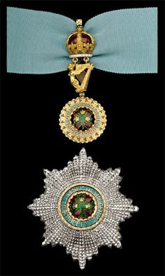 Order of St. Patrick, mid-Victorian Grand Master's set of insignia, comprising of a neck badge by West & Son, Dublin, 95mm high and and breast star, 93 x 83mm, circa 1880.