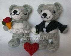 matrimonio amigurumi orsacchiotto