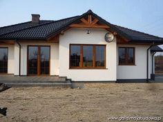 Znalezione obrazy dla zapytania elewacje  czarny dach złoty dab okna House Balcony Design, Duplex House Design, Home Building Design, Building A House, Ethnic Home Decor, My House Plans, Facade House, House Front, My Dream Home