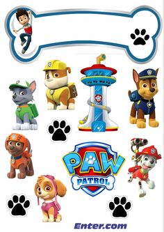 Bolos Toy Story, Frozen Paper Dolls, Paw Patrol Birthday Decorations, Imprimibles Paw Patrol, Paw Patrol Cake Toppers, Cumple Paw Patrol, Happy Birthday Printable, Pin Up Drawings, Disney Scrapbook Pages