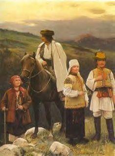 """Zygmunt Ajdukiewicz """"Typy spod Bukowiny"""", ilustracja z książki, Die österreichisch-ungarische Monarchie in Wort und Bild, własność prywatna"""