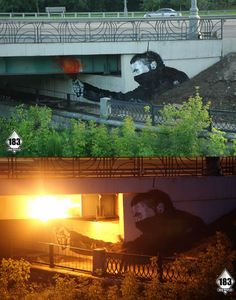 Some really awesome street art (day/night)
