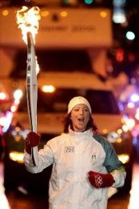 Carrying Olympic torch!
