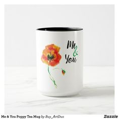 Shop Me & You Poppy Tea Mug created by Buy_ArtDuo. Paper Napkins, Paper Plates, Red Poppies, Red Flowers, Red Mug, Kitchen Collection, Kitchen Items, Custom Mugs, Mug Cup