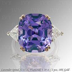 IVY New York Refined cut Lavender Spinel!  www.ivynewyork.com