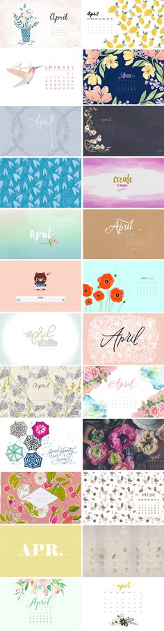 Happy April to you all! It's finally Spring, and I couldn't be happier that winter is behind us! Hope everyone has an amazing month :-) 1. Flipsnack | 2. Coco and Mingo | 3. Clarabour 4. Blushed Design | 5.…
