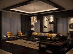 Interior design for a residential space in Cairo- Egypt House Ceiling Design, Ceiling Design Living Room, Bedroom False Ceiling Design, Room Design Bedroom, Home Ceiling, Home Room Design, Hall Interior Design, Hall Design, Interior Design Living Room