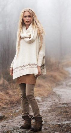 love the pants and boots, sweater ok