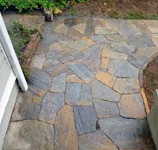 mosaic paver patio | Nice Stone Pathway Around Home