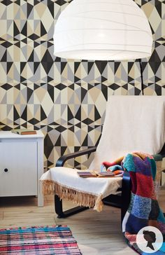Self Adhesive Colorful Geometric Pattern Removable by Livettes