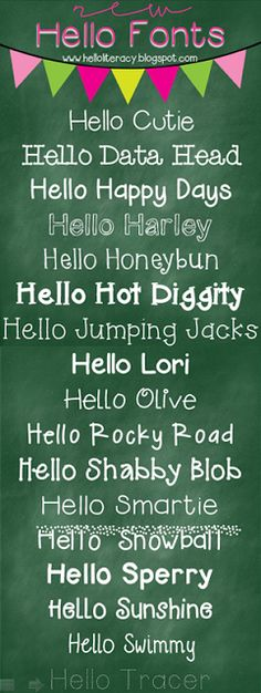 Hello Fonts by Hello Literacy