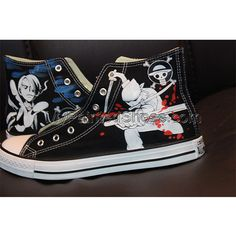 one piece High Top Canvas Sneaker Painted Converse, Painted Canvas Shoes, Painted Hats, Hand Painted Shoes, Custom Converse Shoes, Custom Shoes, Make Your Own Converse, Naruto Shoes, Shoe Art