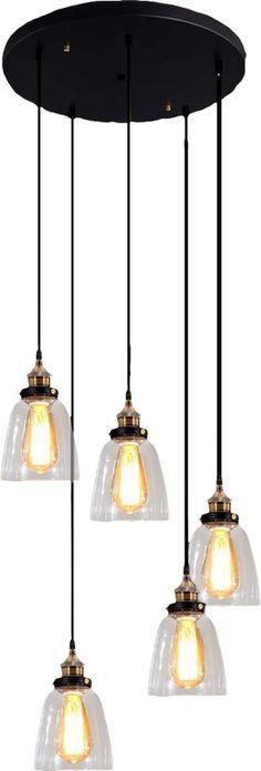 Lumiere Chandelier 1 Light SteelAluminumGlass