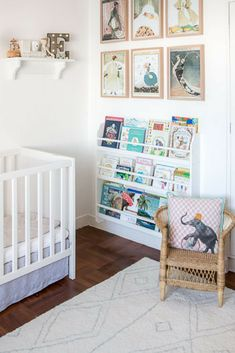 Stunning nursery styling for stylist Tessa Matthews' twin girls!