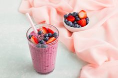 A filling, delicious and protein-rich healthy breakfast smoothie made with quinoa and mixed berries- YUM!  Ingredients (2 serves): 250ml low-fat milk 100g low-fat plain yoghurt 1 medium banana, frozen 250g frozen mixed berries 35g quinoa (equivalent to 100g cooked) 1 tsp chia seeds 2 tsp pure maple syrup       Method:  1. To cook the quinoa, place the quinoa and 160 ml water in a small saucepan and bring to the boil over high heat. Reduce the heat to low and simmer for 10-12 minutes…