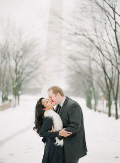 Snowy e-sesh: http://www.stylemepretty.com/missouri-weddings/2015/01/19/st-louis-snowy-engagement-session/   Photography: Jordan Brittley - http://jordanbrittley.com/