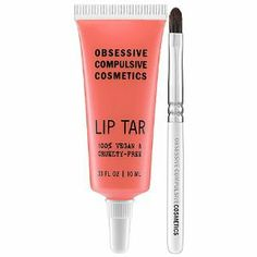 Obsessive Compulsive Cosmetics Lip Tar Divine 0.33 oz by Obsessive Compulsive Cosmetics. $32.00. A high-opacity lipstick concentrate with unprecedented longevity. Flash a fabulous smile and a stunning splash of color with this lip formula that combines the longevity of a lipstick with the breezy application of a gloss. The rich pigment will drench your pout and the blend of essential oils, including hemp and peppermint, will soothe and soften the skin for a supremel...