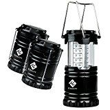 ⚽ #1: Etekcity 3 Pack Portable Outdoor LED Camping Lantern with 9 AA Batteries (Black, Collapsible) #ad #Fitness