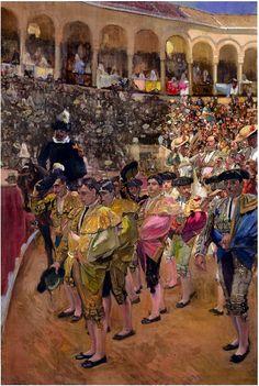 Joaquín Sorolla y Bastida como siempre, genial captando la luz y el color. En este caso, momento soñé del festejo taurino.