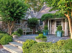 beautiful entry to a French country style home