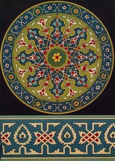 Catalog No SIM 019 Publication L'art de l'Asie Centrale Author N Simakoff Year 1883 Islamic Motifs, Islamic Art Pattern, Persian Motifs, Pattern Art, Turkish Tiles, Turkish Art, Portuguese Tiles, Moroccan Tiles, Misty Copeland