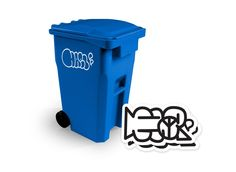 TYO Toys presents: HAELER mini trash bin! #DoItYourselfDIY #Graffiti #PVC #Recycle #SpankyStokes