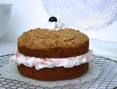 cherry & red beet cake with whipped cream (Dan Lepard)