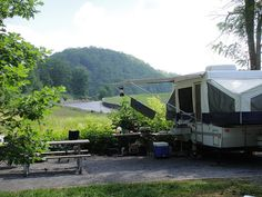Here's a nice campsite at Camp Burson.
