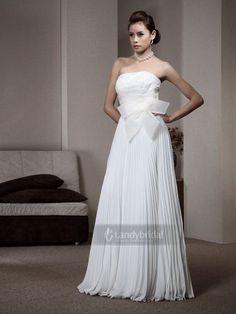 ウェディングドレス エンパイア 当店の一番人気商品 上半身パール風 リボン  H3tbvm0512 価格 ¥27,300