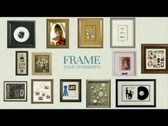 Custom Frames Treasures - Make the most of your memories!     Customers, feel free to share as this video has a new, generic ending :-) Enjoy!