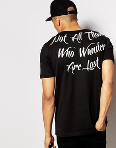 Image 1 of ASOS Longline T-shirt With Scoop Neck And Back Print