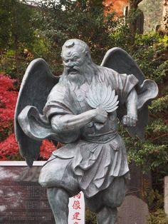 Japanese Culture, Japanese Art, Tengu Tattoo, Dragon Mythology, The Last Samurai, Japanese Mythology, Japanese Temple, Martial, Samurai Art