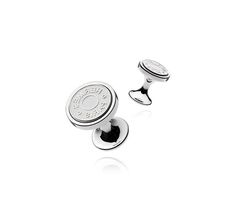 Hermes Shiny silver cufflinks for the dapper man