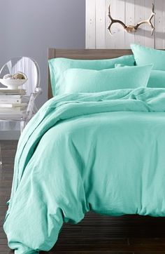 Merci Washed Linen Queen Size Duvet Cover available at #Nordstrom